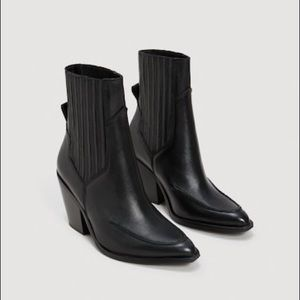 SOLD OUT ONLINE: Mango Leather Cowboy Ankle Boots